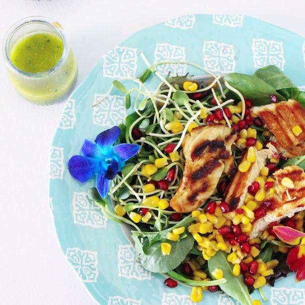 #PouletCA - Salade de poulet grillé d'inspiration printannière