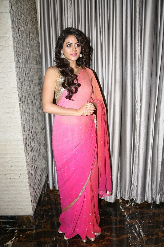 South Indian Actress Shruthi Sodhi Long Hair Hot Hip Navel Show Stills In Pink Saree