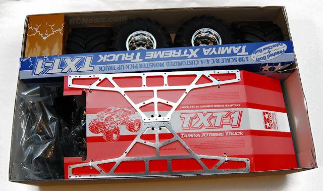 Tamiya TXT-1 box contents