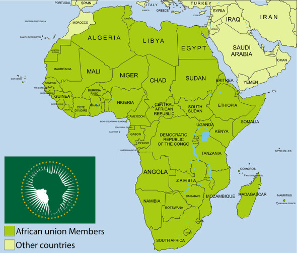 African Union Map.Integrating Africa With The New African Union Diplomatic E Passport