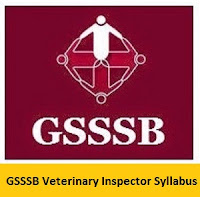 GSSSB Veterinary Inspector Syllabus