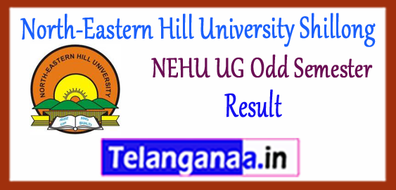 NEHU North-Eastern Hill University Shillong BA B.Sc B.Com BBA BCA BSW (UG) 1st 3rd 5th Semester Result 2017