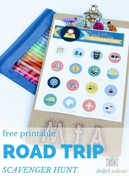 Printable Road Trip Scavenger Hunt