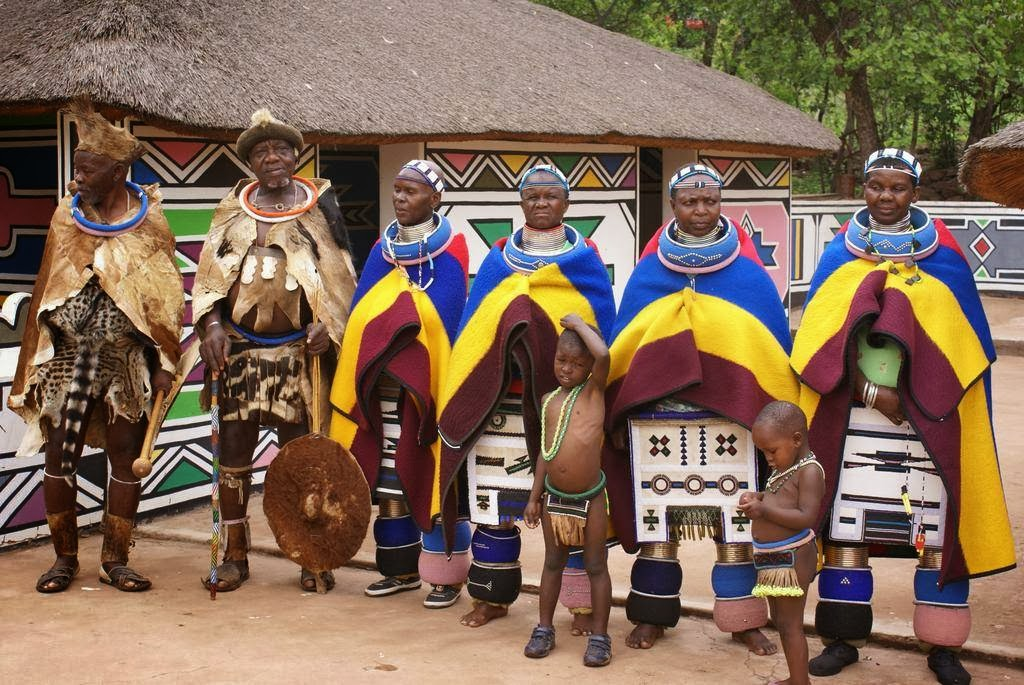 Local Style Traditional Dress And Adornments Of Ndebele