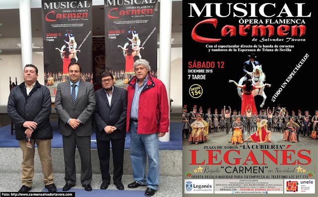 Presentación del espectáculo Carmen en Leganés