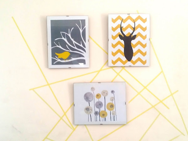 DIY wall decor using washi tape