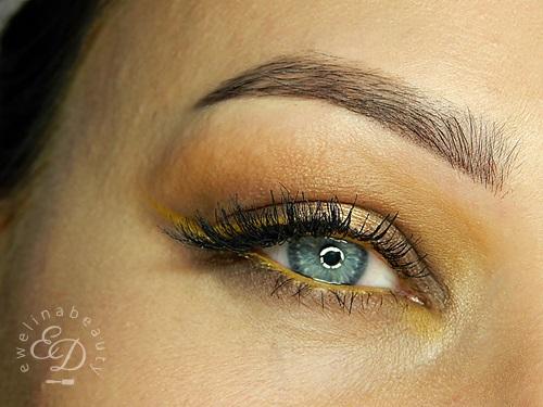 Ewelinabeauty Smoky Eye Brąz Z żółtym Akcetem