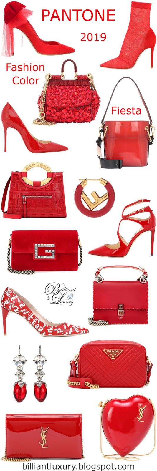 Brilliant Luxury ♦ PANTONE Fashion Color SS 2019 ~ Fiesta