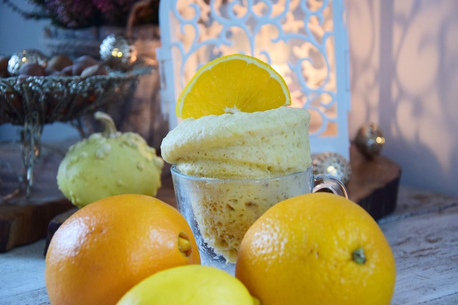 ciasto cytrynowo pomarańczowe z mikrofali
