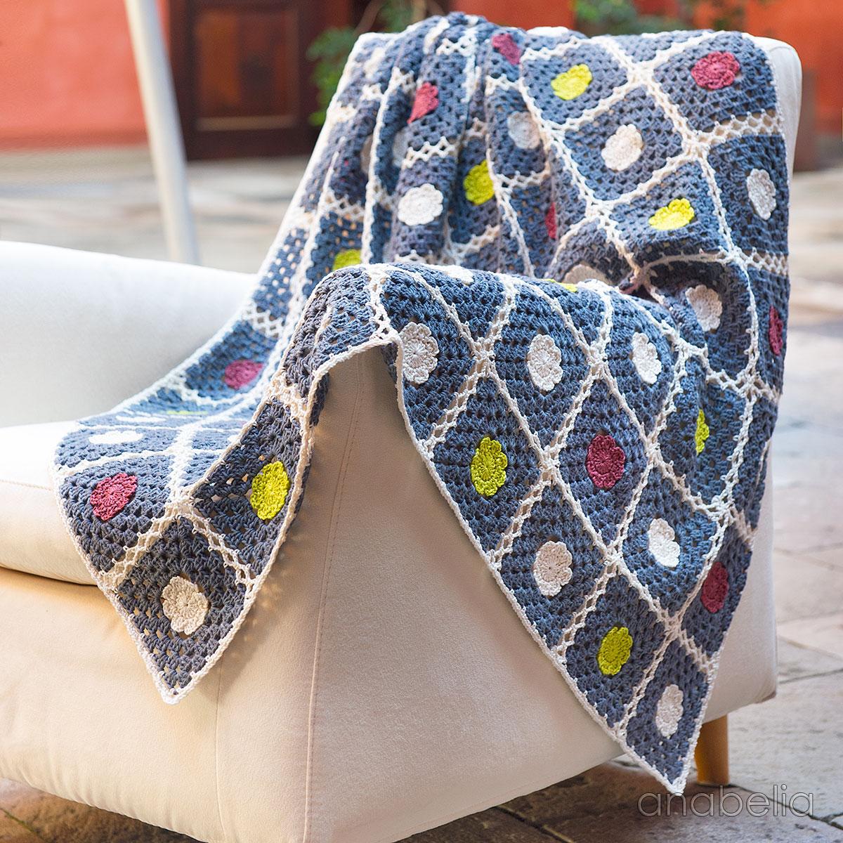 Anabelia Craft Design Patterns Library Crochet Flower Motif Motivos Hexagonales Pinterest