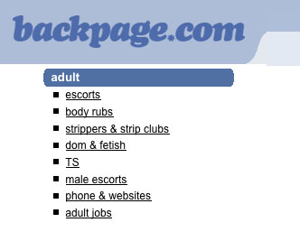Pols Outraged Over Backpage Com But Not The Trib