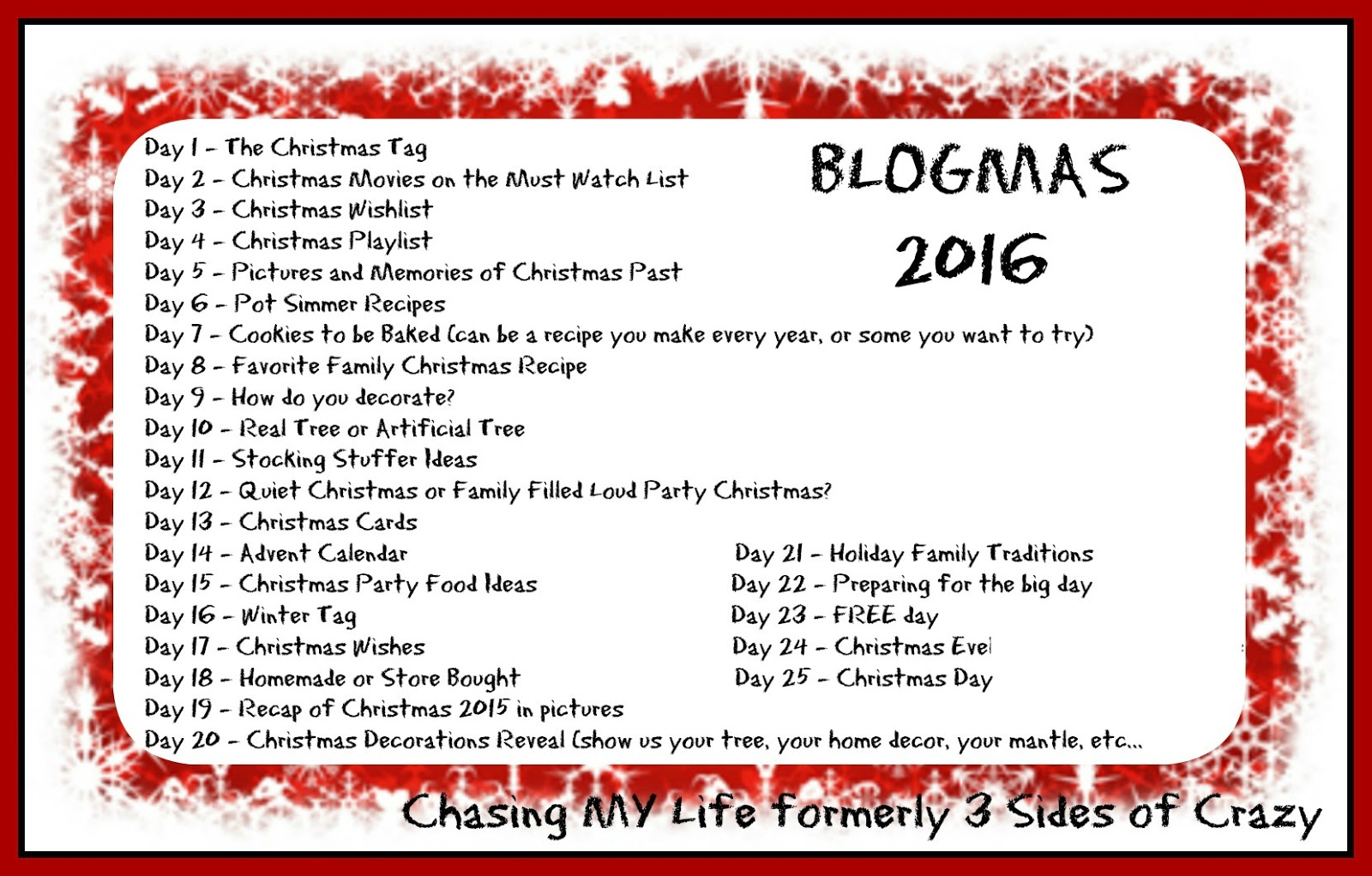 BLOGMAS 2016 – DAY 13 – CHRISTMAS CARDS – Chasing MY Life WHEREVER ...