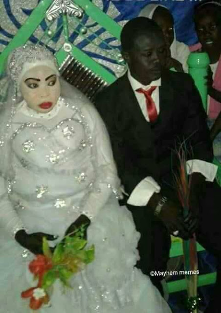 Checkout This Photo Of A Bride At Her Wedding Ceremony