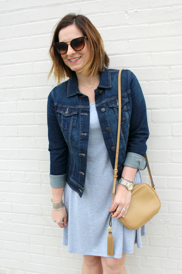 style on a budget, spring wardrobe, spring style, look for less, denim jacket