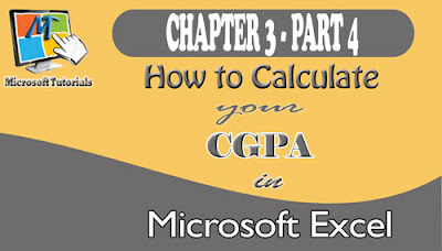 How To Calculate Your Cgpa Using Ms-Excel