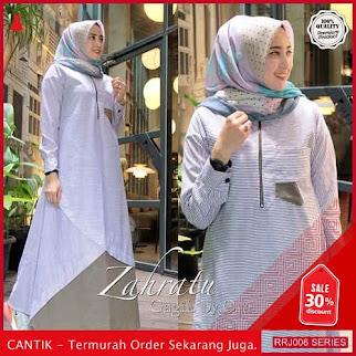 Jual RRJ006D290 Dress Salur Zahratu Wanita Sk Terbaru Trendy BMGShop