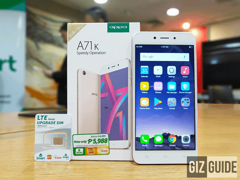 OPPO launches Smart exclusive A71K with FREE 4G LTE upgrade SIM!