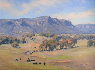 Warwick Fuller painting - Grazing in the Valley