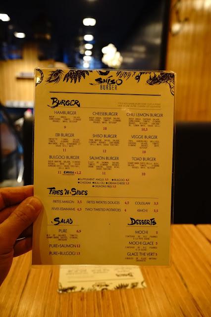 Le Chameau Bleu - Blog Gastronomie Paris  - Menu du Shiso Burger - Restaurant Paris - nippon