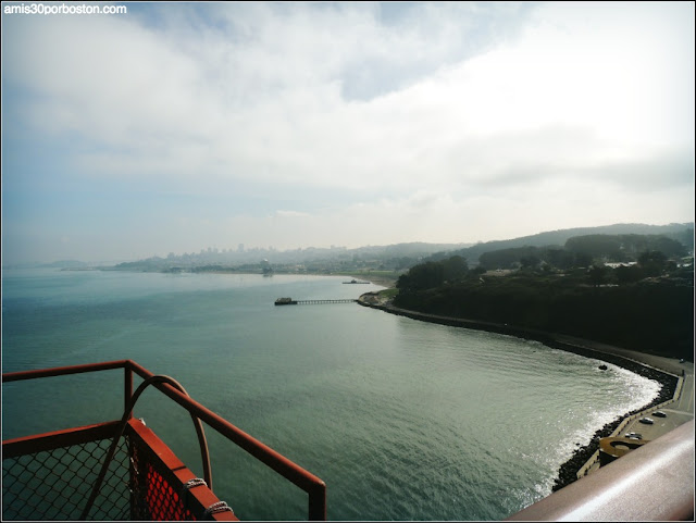 Vistas desde el Golden Gate Bridge