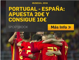 betfair promocion Mundial 2018 Portugal vs España 15 junio