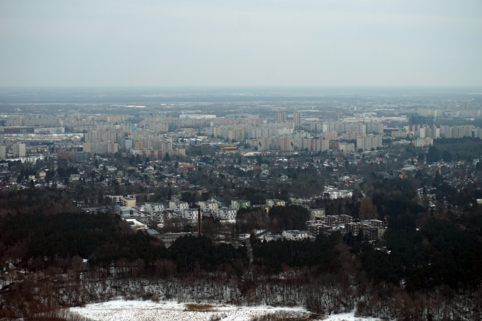 Lasnamäe Tallinnan Teletornista katsottuna - näköalapaikka