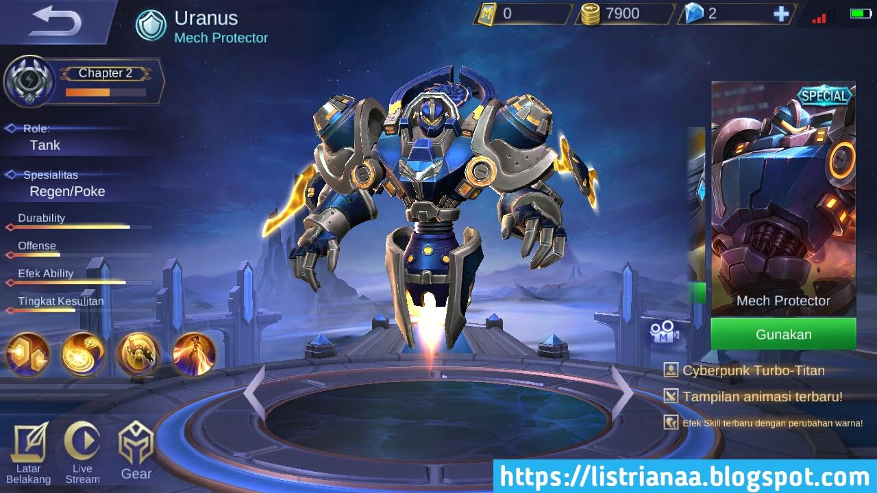 Game Play Skin Uranus Mech Protector Mobile Legends 2