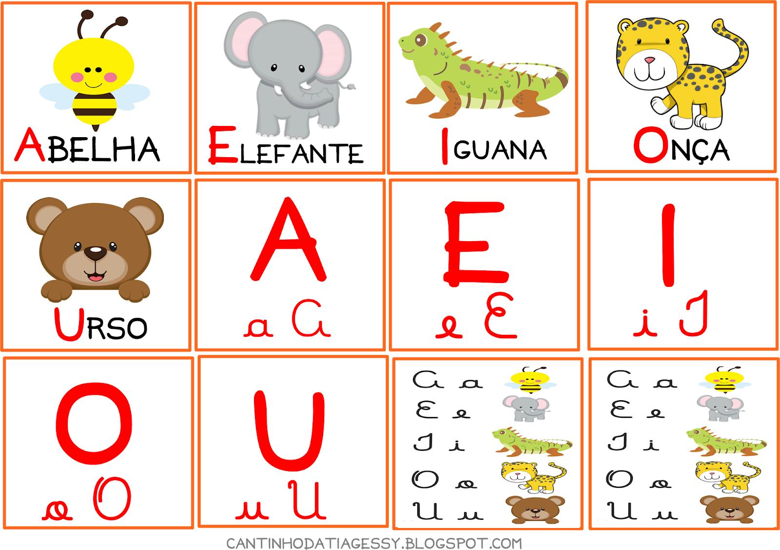 Jogo Para Ajudar A Crianca No Reconhecimento Das Vogais Cantinho