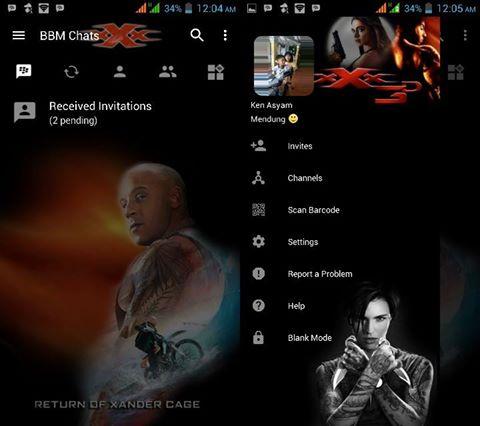 BBM MOD Triple-X ( xXx ) 3 v3.2.5.12 APK