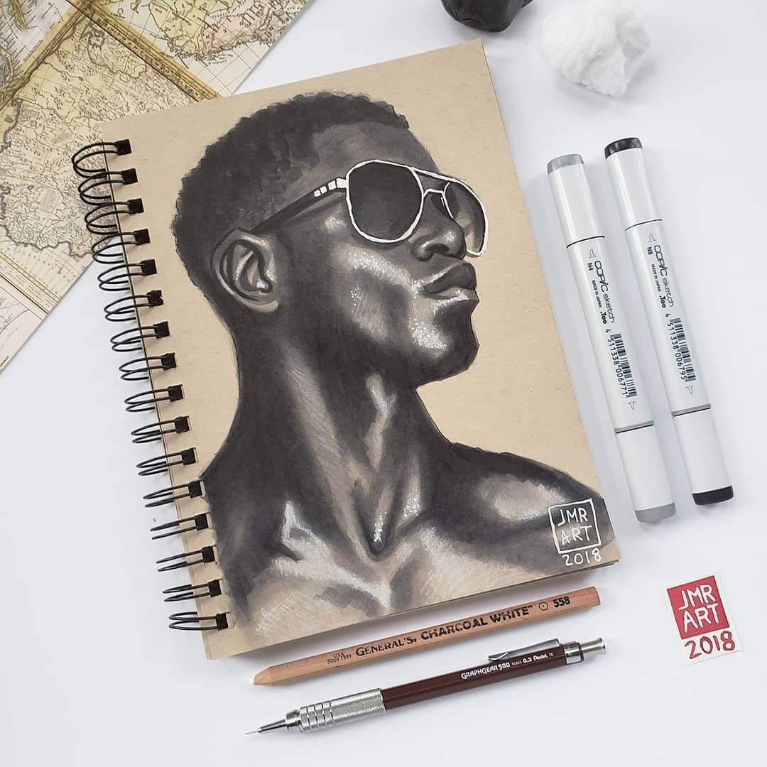 14-Jordan-Rhodes-Strong-and-Relaxed-Expressions-in-Portrait-Drawings-www-designstack-co