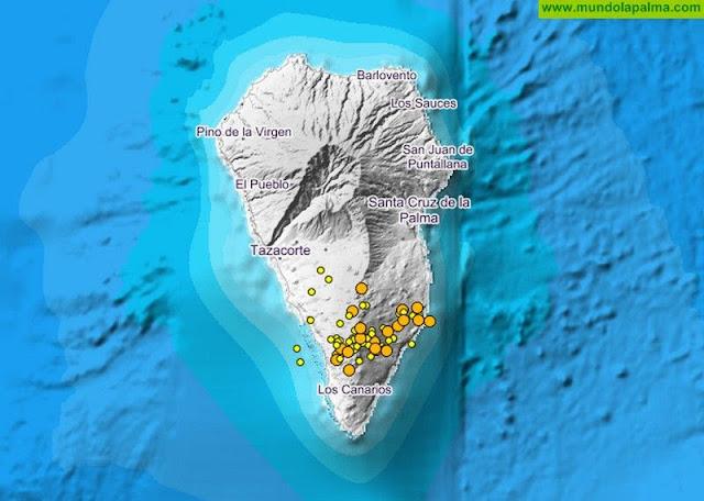 El enjambre sísmico se intensificó en la madrugada de hoy miércoles
