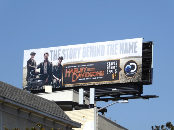 Harley and the Davidsons series premiere billboard