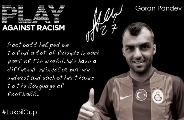Pandev ist Play Against Racism Botschafter