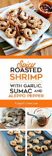 Spicy Roasted Shrimp with Garlic, Sumac, and Aleppo Pepper found on KalynsKitchen.com