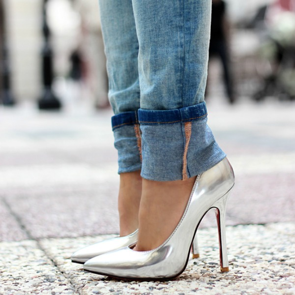 Resultado de imagem para como usar sapato metalizado para reveillon