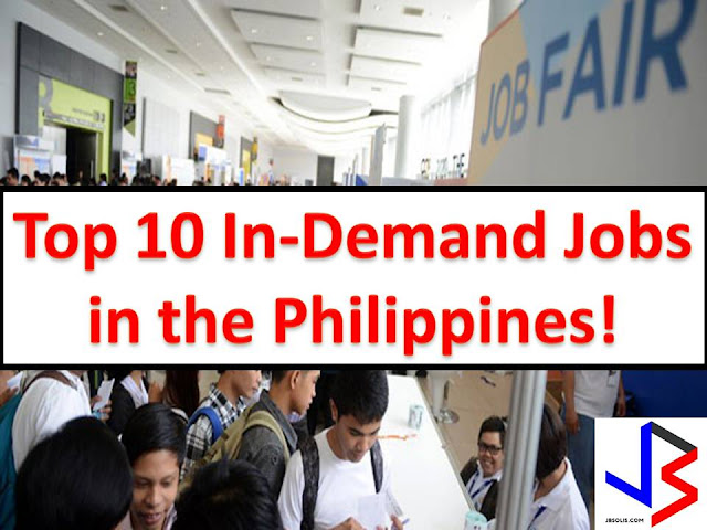 "If you are not into working in foreign countries and you prefer to work in the Philippines, you should focus on a path or a course that would land you into this Top 10 Most In-demand jobs in the Philippines.  This report is based on LinkedIn, a business and employment-oriented social networking services that operate via websites and mobile apps.  From four million professionals and 19,000 companies, LinkedIn listed in their report, ""Recruiting in the Philippines"" the top 10 most in-demand jobs in the country."