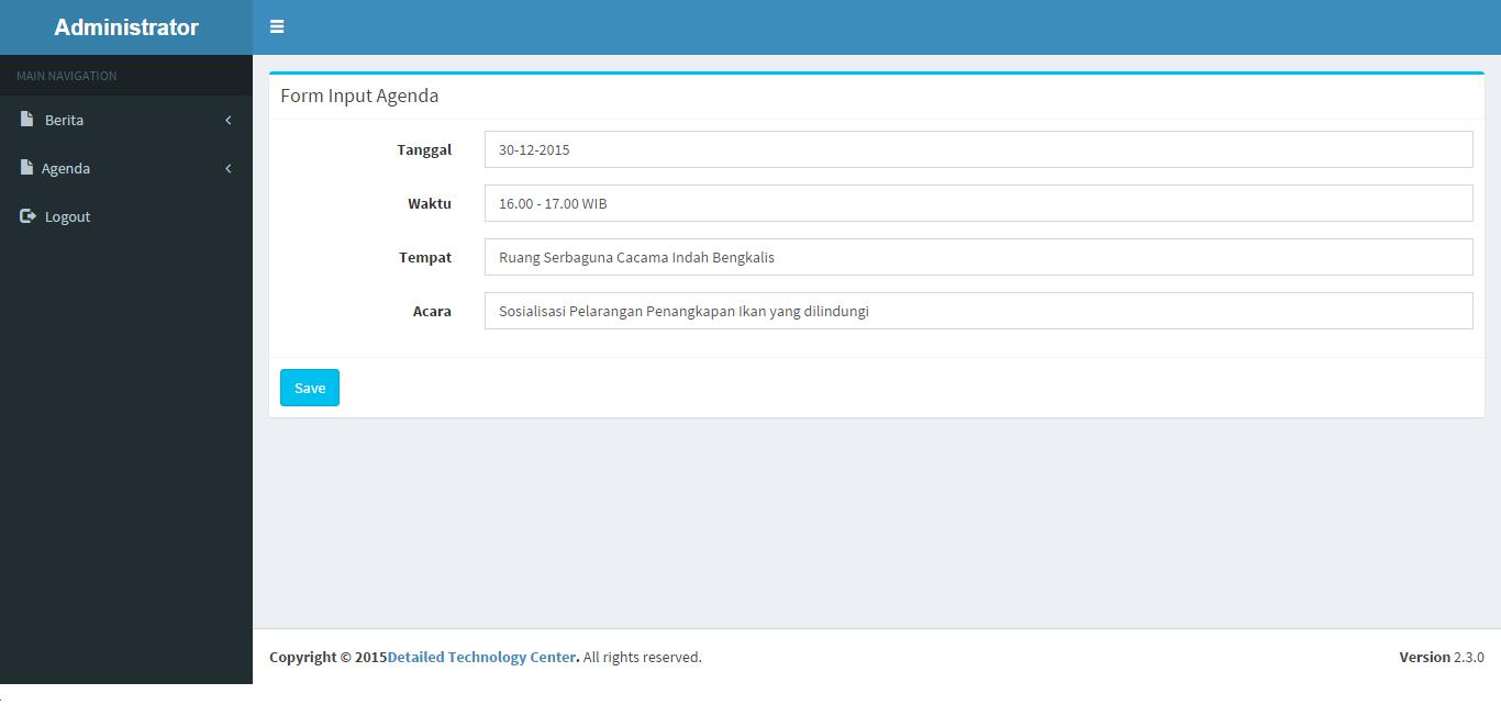 Membuat Admin Panel Agenda Dengan PHP MySQL