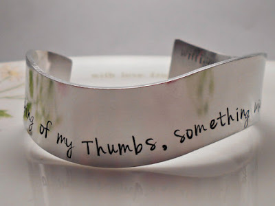 Shakespeare Bracelet on Etsy | gift guide by Tomes and Tequila blog