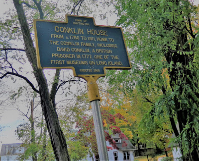 The Conklin House in Huntington NY is on the National Register of Historic Places.  It is believed to be haunted by the ancestors of the Conklin family.  Haunted houses. Historic houses on Long Island NY