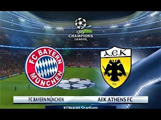 Bayern Munchen vs AEK Athens Live Streaming Today 07-11-2018 UEFA Champions League