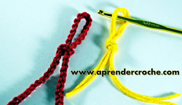 aprender croche canhotas curso de croche para canhotos  laçada inicial aprender croche EdinirCroche