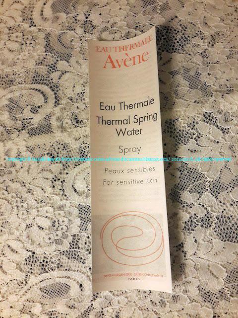 THERMAL SPRING WATER EAU THERMALE AVENE NATALIE BEAUTE BLOG POST