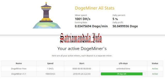 Deposit DogeMiner
