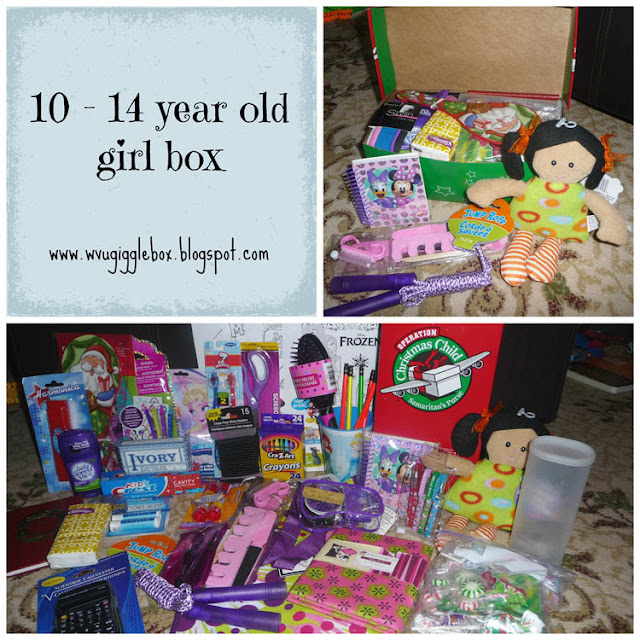 packing an Operation Christmas Child box for a 10 - 14 year old girl, OCC girl box ideas, Operation Christmas Child,