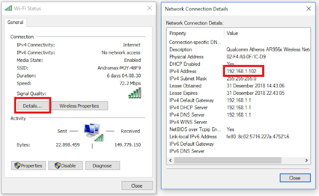 Cara Melihat IP Address Laptop dan Komputer