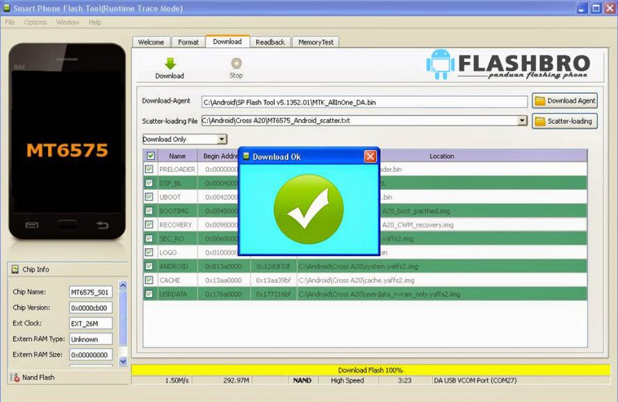Sukses Cara Flashing Coolpad Roar A110 via Flashtool