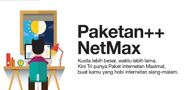 Jaman kini internet sudah tidak sanggup dihindarkan lagi Peket Internet Hemat 3 (tri)