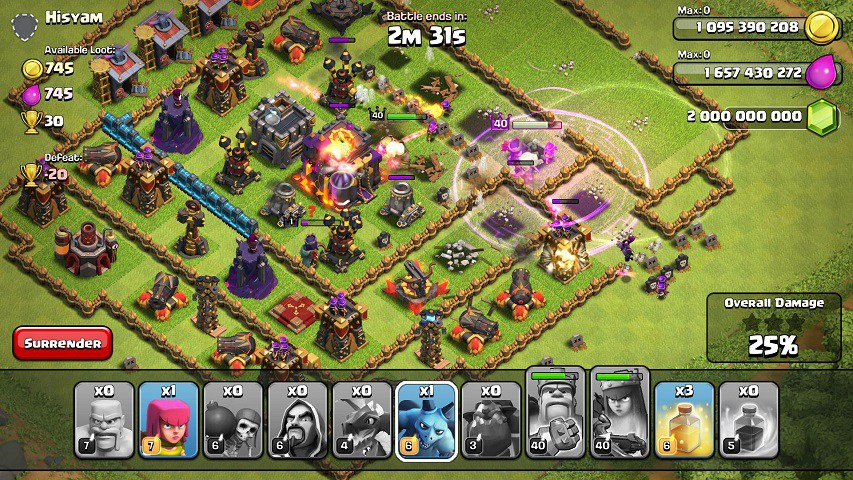 clash of clans unlimited everything download update