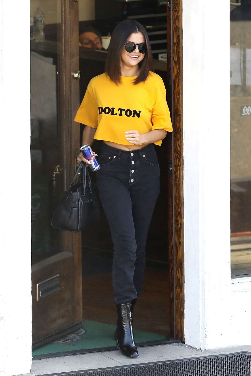 Selena Gomez spotted leaving tattoo parlour in Hollywood