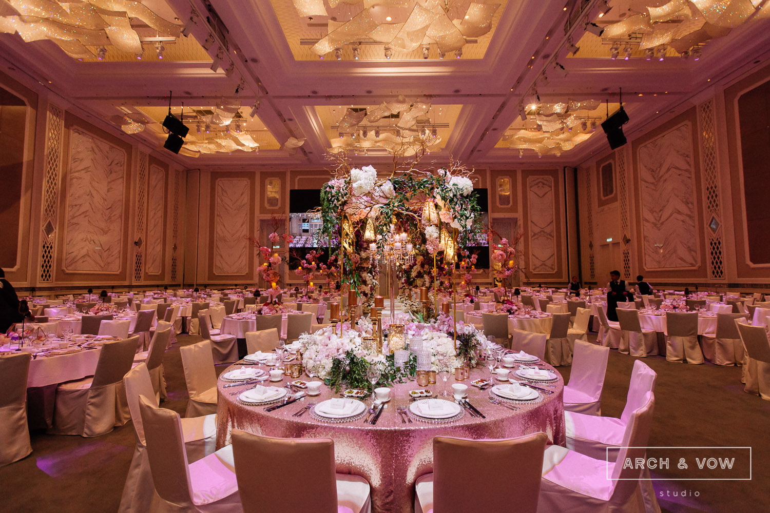 The st regis kuala lumpur kl sentral stone paneled walls that complement the highest ceiling in kuala lumpur junglespirit Gallery